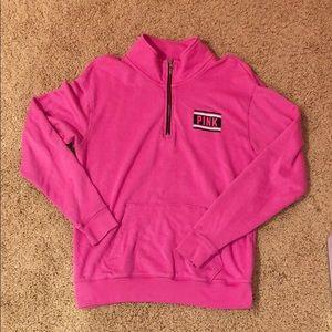 Pink Victoria secret 1/2 zip pullover
